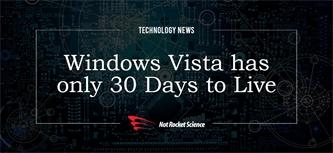 Windows Vista has just 30 days to live